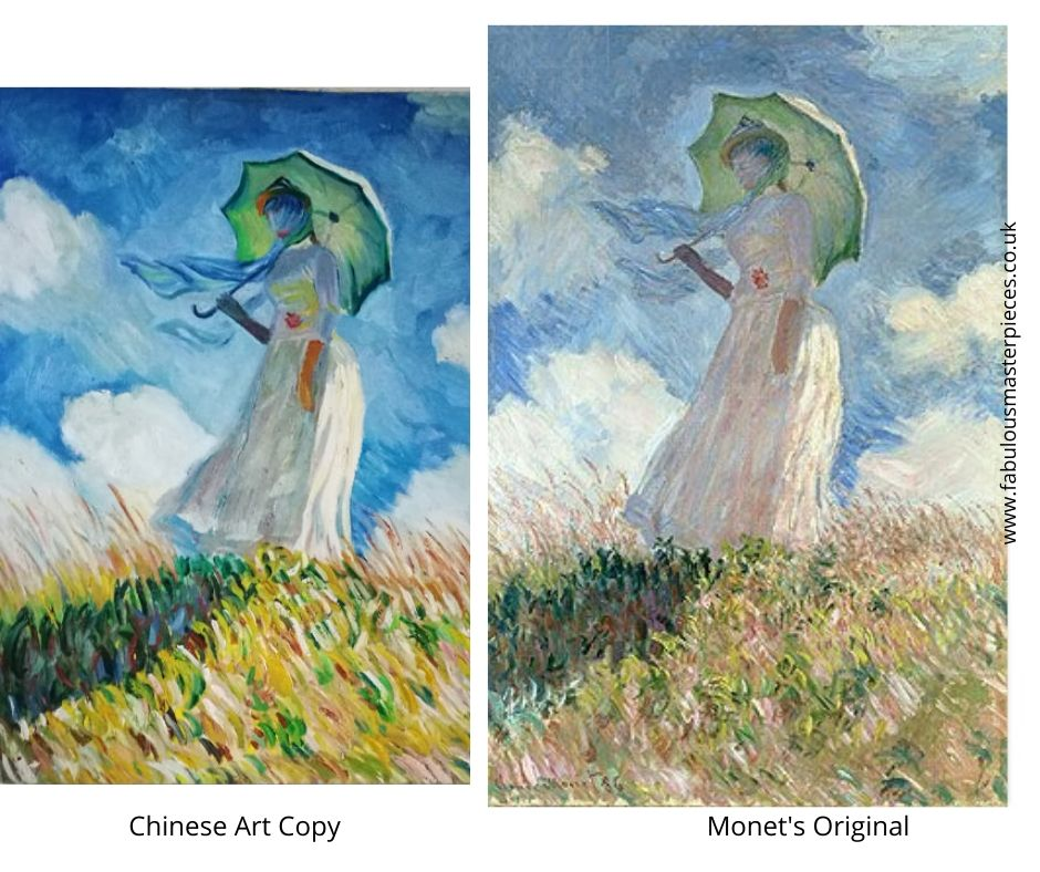 chinese art copies famous paintings