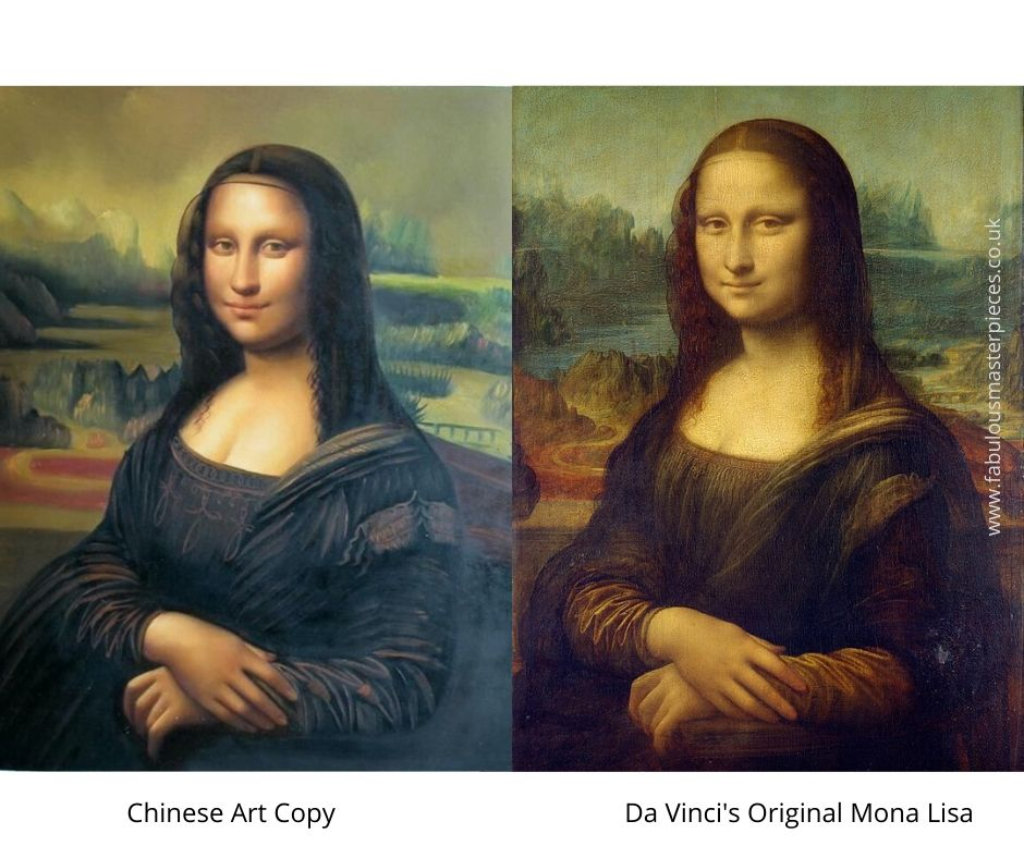 chinese famous painting copy mona lisa