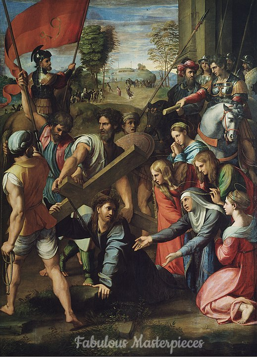 Raphael's Christ falling on the way to calvary