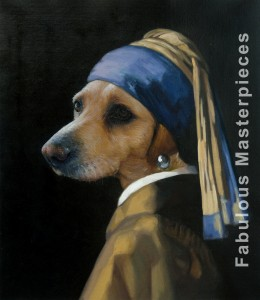 Vermeer's Dog with a Pearl Earring