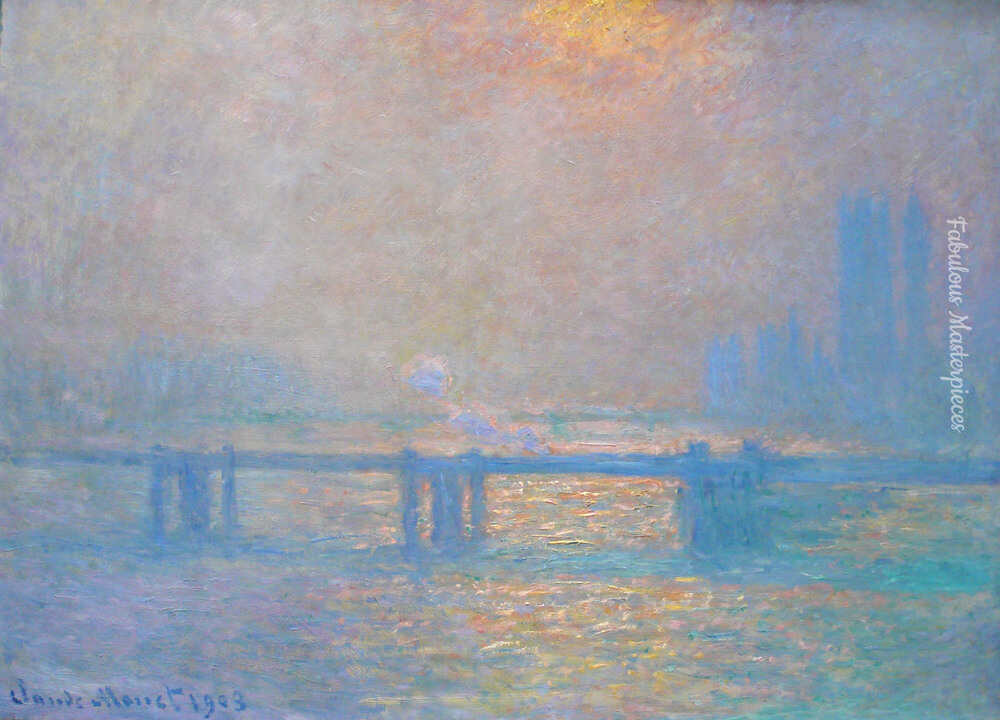 monet charing cross bridge 1903