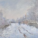 monet snow at Argenteuil
