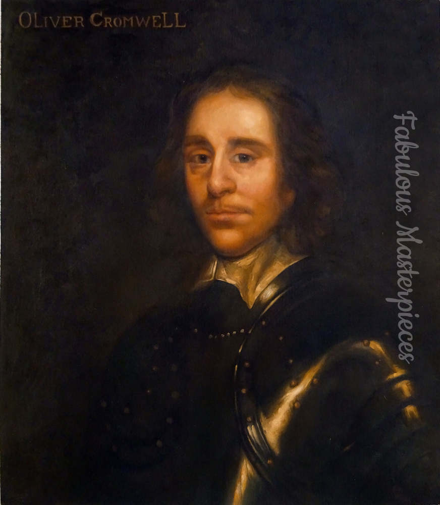 oliver cromwell upside down portrait