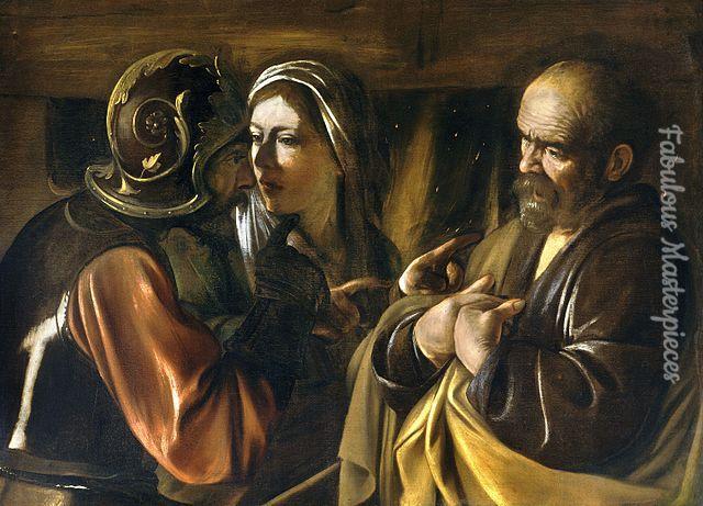 caravaggio the denial of saint peter