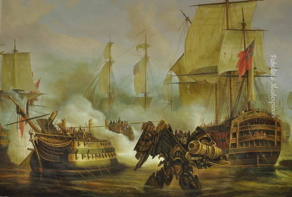 battle of trafalgar with transformer dulwich picture gallery