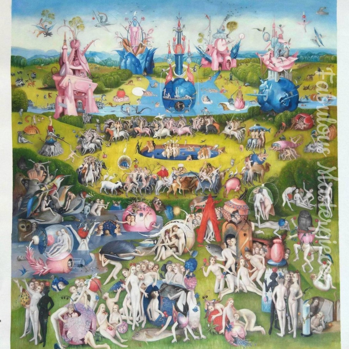 Fab Art Copy Of Hieronymus Bosch S The Garden Of Earthly Delights Fabulous Masterpieces 39 Blog