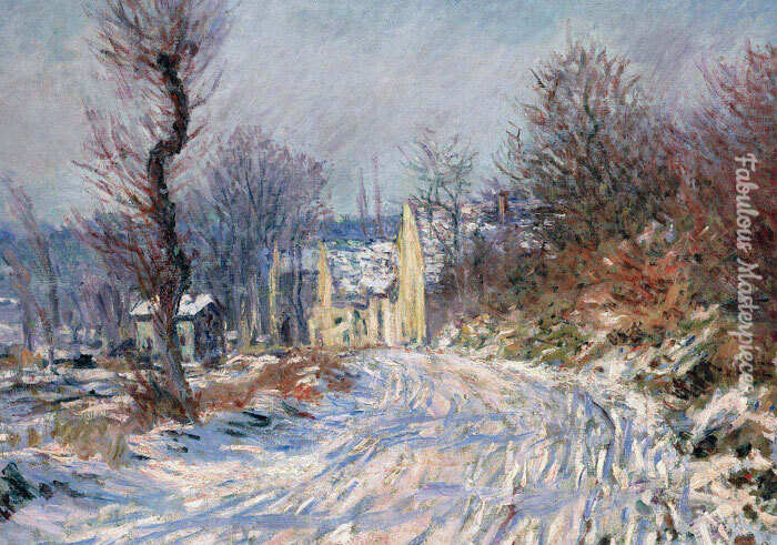 claude monet, the road to Giverny in winter