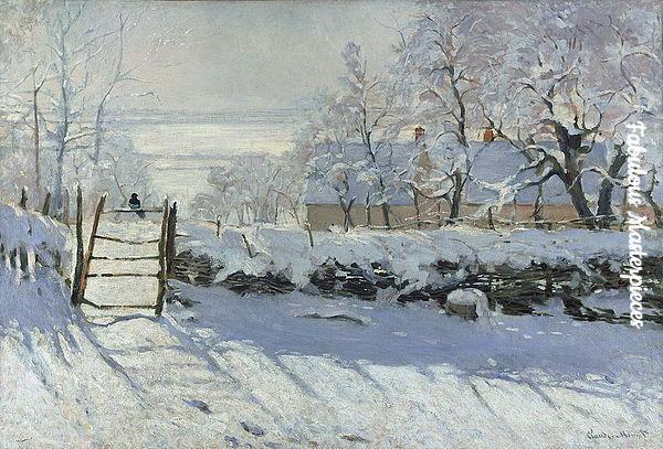 claude monet paintings winter scene
