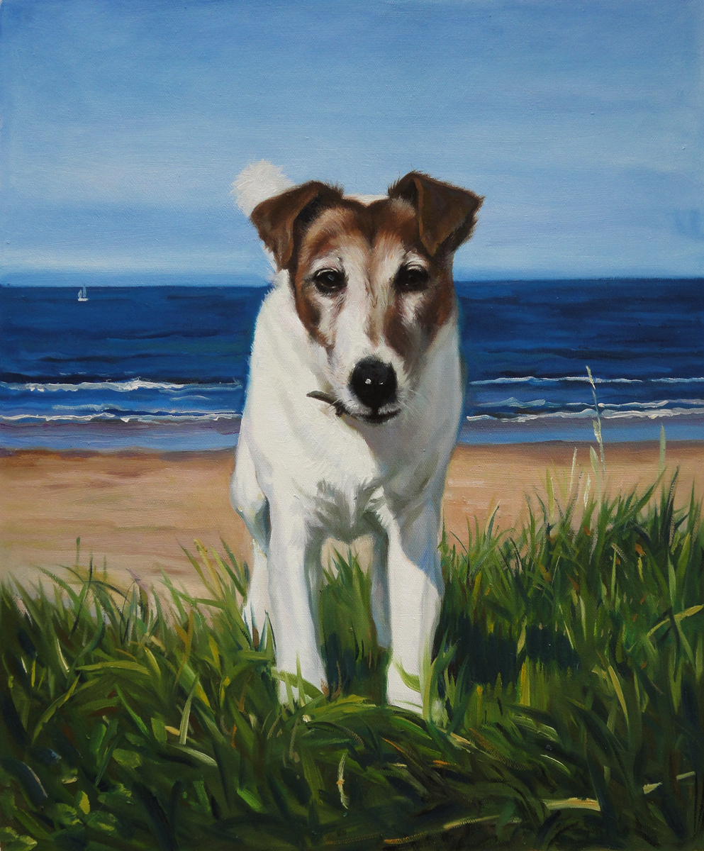 Wicked dog portraits fabulous masterpieces 39 blog for Painting of your dog