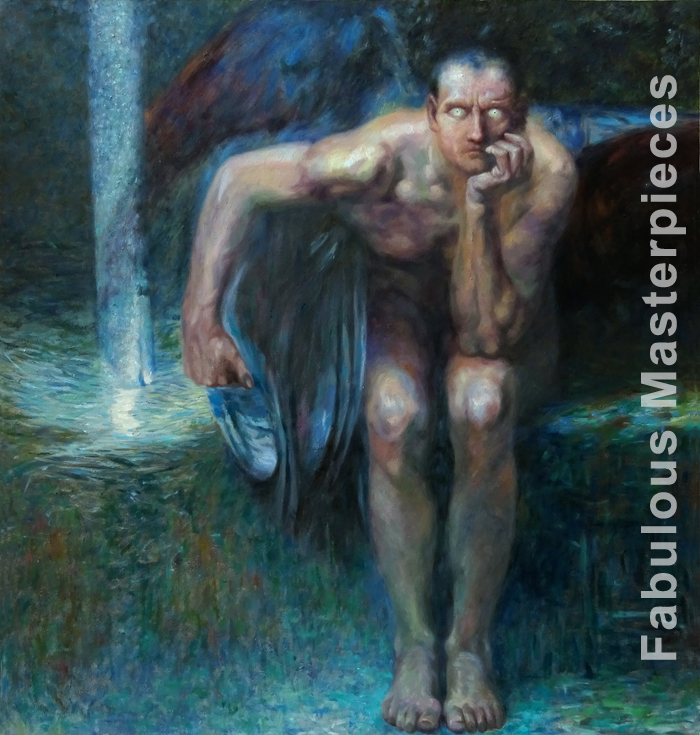 franz stuck lucifer painting