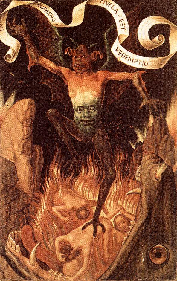 painting of hell of hans memling