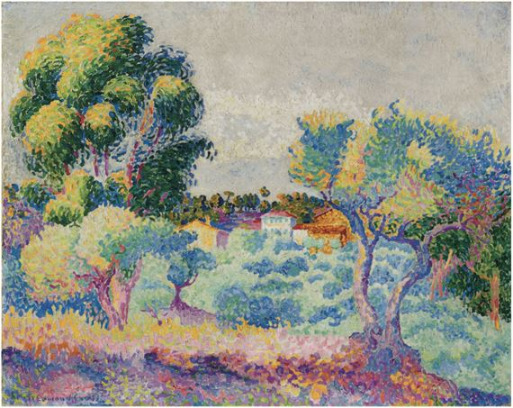 henri edmond cross eucalyptus et olivers