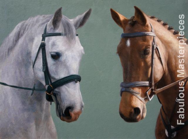 Modern horse paintings