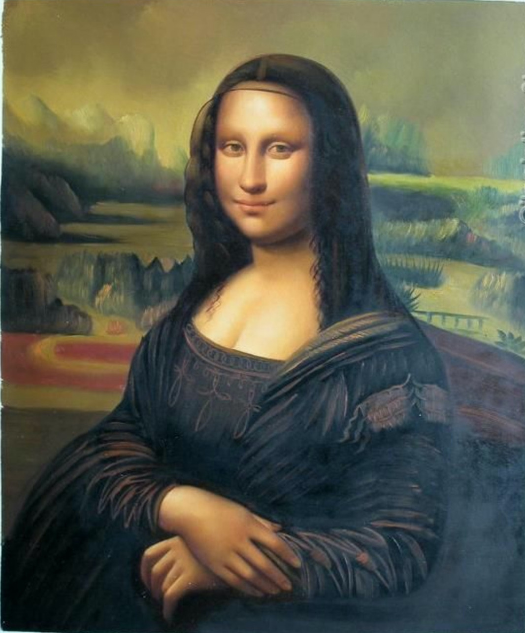 mona lisa chinese art copy