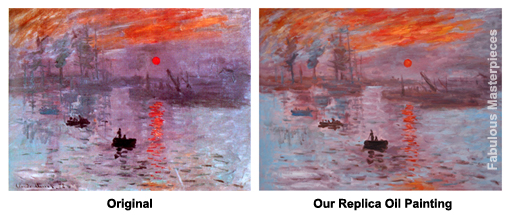 monet impression sunset