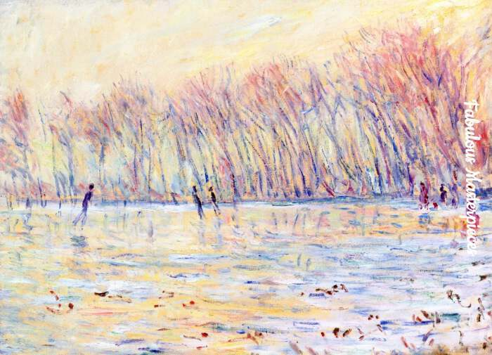 monet skaters in giverny