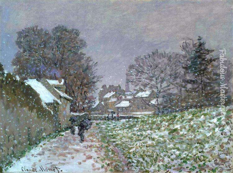 monet snow at argenteuil