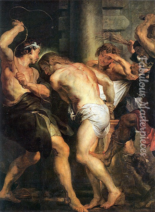 famous easter paintings - reubens the flagellation of christ