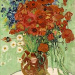 van gogh Still Life, Vase with Daisies and Poppies